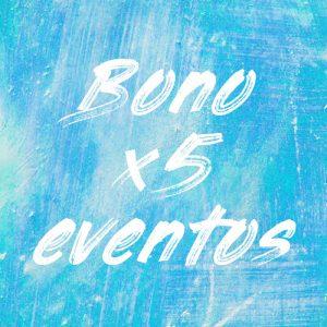 Comprar bono de 5 eventos en pintaplan